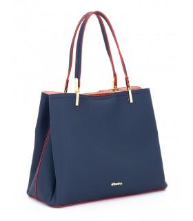 Bolso azul con asa