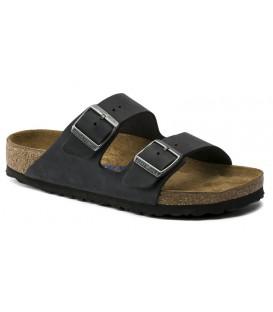Sandalia plana color negro
