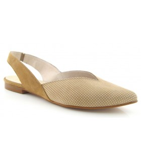 Zapato salón destalonado con puntitos