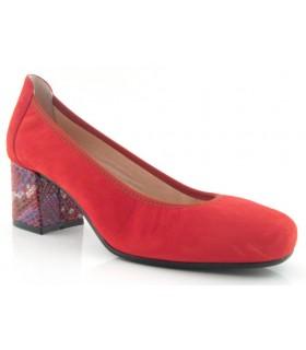 Zapato salón en color rojo con tacón singular