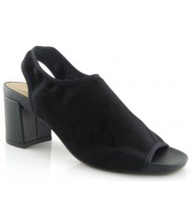 Sandalia elástica en licra negra