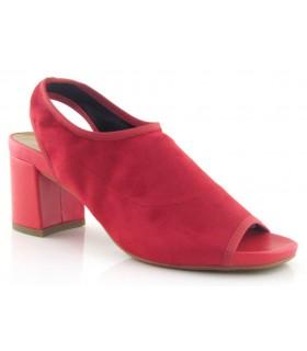Sandalia elástica en licra roja