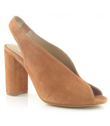 Zapatos de vestir con tacón alto color cuero