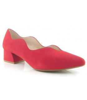 Zapato corte salón ondulado en color rojo