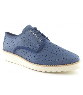 Zapato blucher en color jeans
