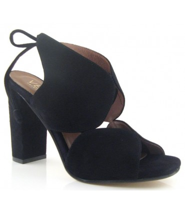 Sandalia de vestir tacón alto negro