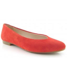 Zapato salón plano color rojo