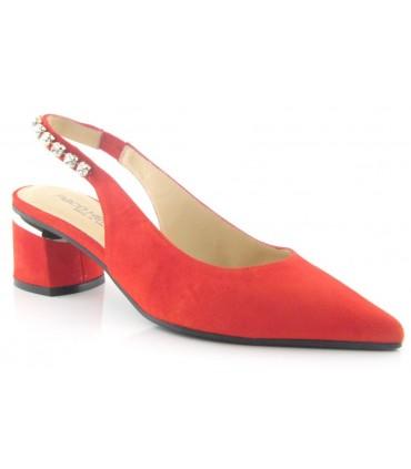Zapato salón destalonado con pedrería
