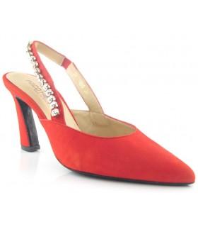 Zapato salón de vestir con pedrería
