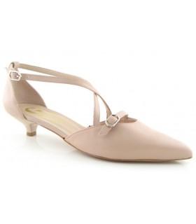 Zapato de vestir con tacón chupete en color nude