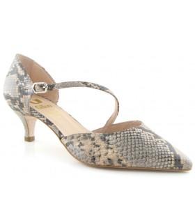 Zapatos de vestir para mujer en serpiente