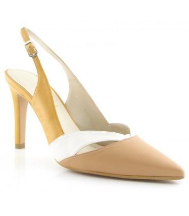 Zapato corte salón de vestir en color combinado