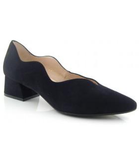 Zapato corte salón ondulado en color negro