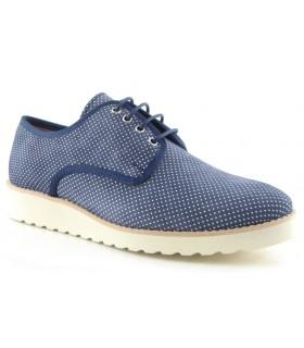 Zapatos de cordones con puntitos azul marino