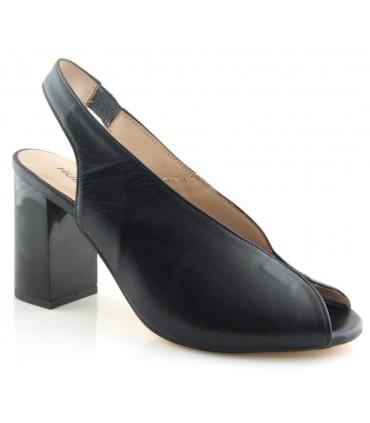 Zapato peep toe negro