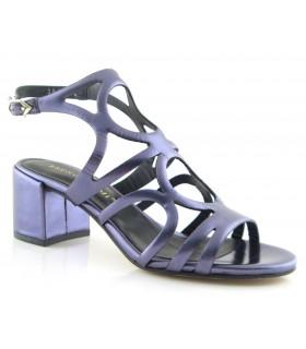 Sandalias de vestir metalizado marino