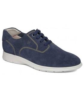 Zapatos de cordones azul