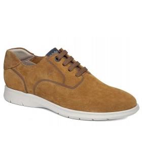 Zapatos de cordones color cuero