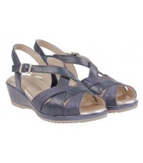 Sandalia de cuña confort color negro