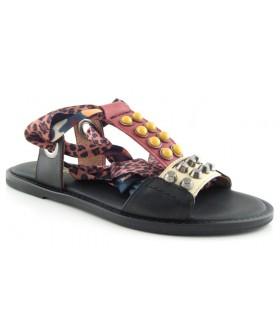 Sandalias para mujer con lazo para atar al tobillo
