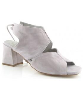 Sandalia para mujer con cordones en el talón color gris