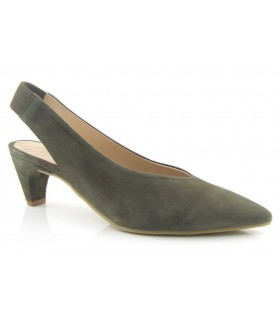 Zapato corte salón con elástico en el talón