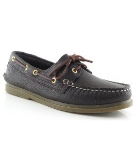 Zapato náutico marrón hombre