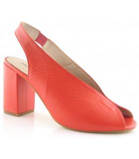 Zapato peep toe rojo