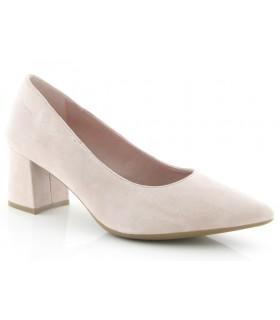 Zapato salón en ante rosa