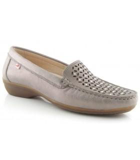 Zapato mocasín de confort en color acero