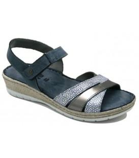 Sandalias de confort azul