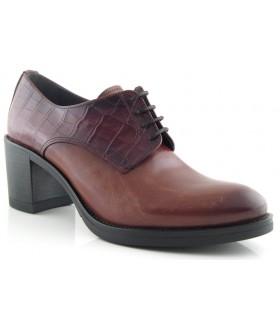 Zapato de cordones combinado con coco cuero