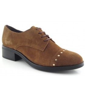 Zapatos de cordones cuero con tachas