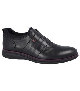 Zapato negro con elástico central