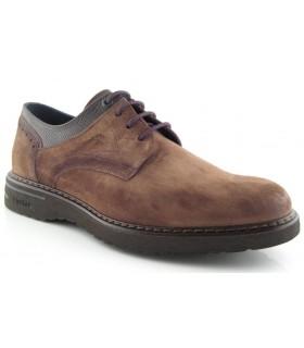 Zapatos de cordones afelpado color cuero