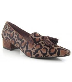 Mocasín con borlas leopardo