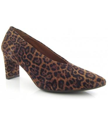 Salón para mujer en serraje leopardo
