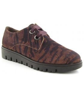 Zapato de cordones con estampado tigre