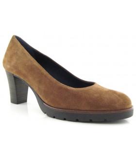 Zapato corte salón con plataforma