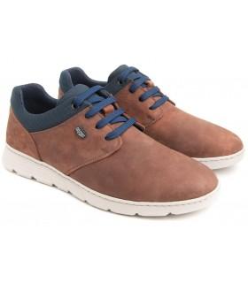 Zapatos de cordones para hombre con la suela blanca