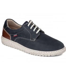 Zapato para hombre con cordones en azul marino