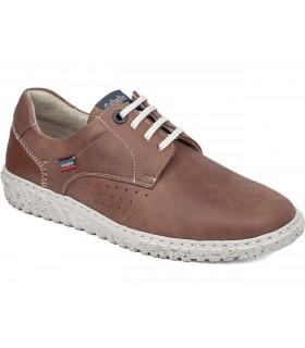 Zapatos de cordones en piel marrón