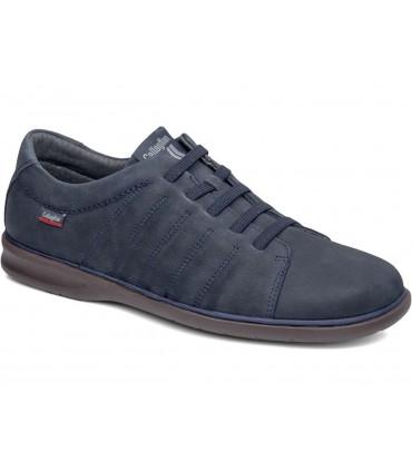 Zapato con cordones elásticos en color azul