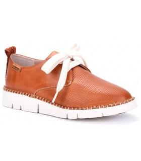 Zapatos de cordones en color brandy