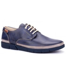 Zapato con cordones en color azul
