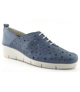 Zapatos con cordones en color azul marino