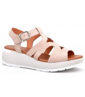 Sandalia con plataforma en color taupe