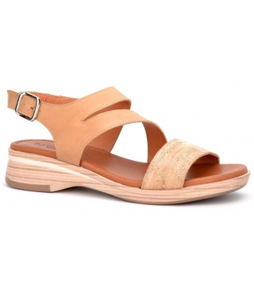 Sandalia para mujer en color arena