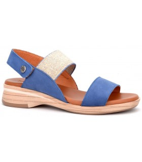 Sandalia con elástico en color azul