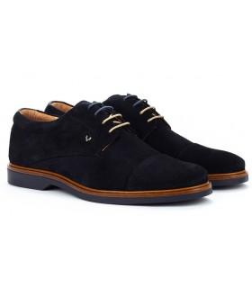 Zapatos con cordones en azul marino